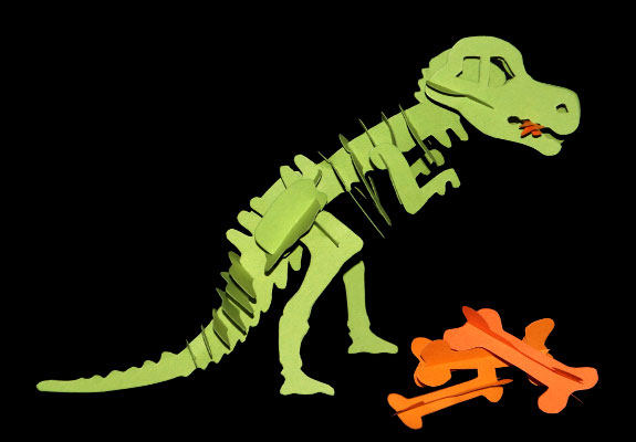 Dinosaurier Basteln T Rex Als Stecktier