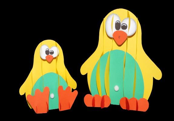 Pinguin aus papier basteln stecktier - Pinguin basteln vorlage ...