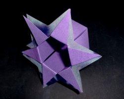 Bastelanleitung: fertige Sternenbox aus Papier