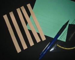 Bild von fünf Papierstreifen