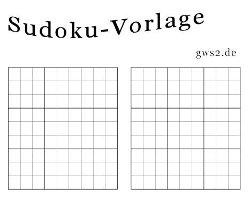 Bild von Sudoku-Vorlage