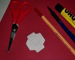 Tastatur aus Papier Bastelmaterial
