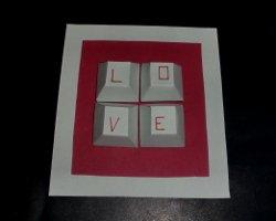 Liebesbotschaft via Tastatur - Kartenideen für Männer