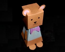 Teddybär aus Papier basteln