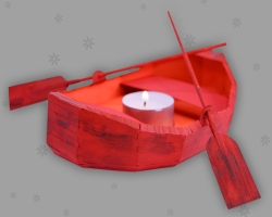 ruderboot basteln papier in holzoptik darstellen anleitung. Black Bedroom Furniture Sets. Home Design Ideas