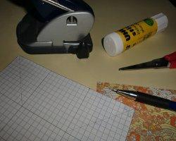 Bastelmaterial zum Tischspender