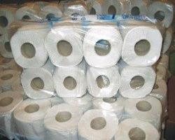 Bild von gelagerten Toilettenroleln