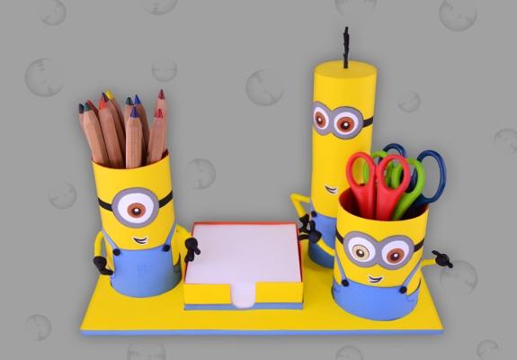 Minions: Schreibtisch Utensilo - Bastelanleitung