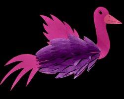 Bild von Vogel aus Wabenpapier