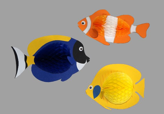 Clownfisch bastelanleitung - Fische basteln aus papier ...
