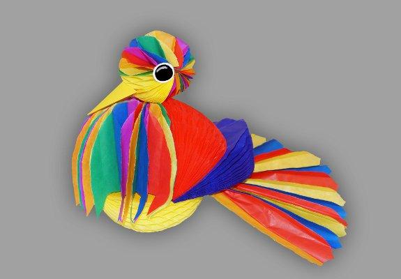 Papiervogel Zum Aufhängen Basteln