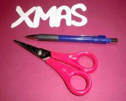 Bastelmaterial für Weihnachtsaufsteller