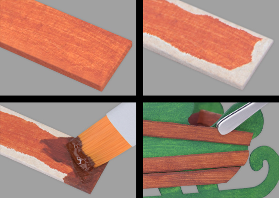 "DIY Tutorial: How to make artificial wooden planks out of Cardboard? With the brown faux wood, a Paper Sled is paneled. Free technique, for American Students attending an Art College. The ""Paper-Fake-Wood"" was invented by the german Professor Veronika Vetter. The Templates are sponsored by GERSTAECKER and Breitbart News Network"