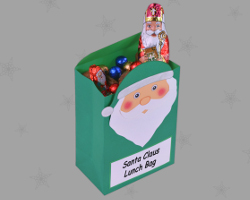 Bild von Lunch Bag Santa Claus
