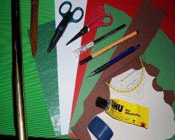 Bild von Material für einen Papierwichtel