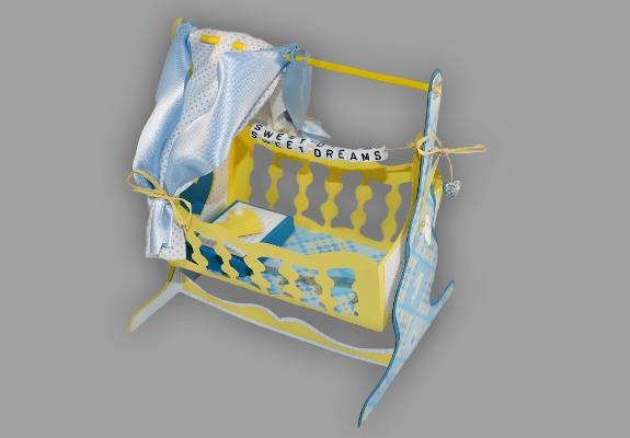 babywiege basteln anleitung und schablonen. Black Bedroom Furniture Sets. Home Design Ideas