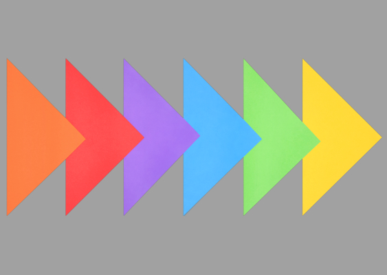 Free Template for a Rainbow Colored Pinwheel – DIY Paper Tutorial by Veronika Vetter Bavarian Fine Artist. The six arrows show the way to the men's room, where there are many Gays. LGBT+
