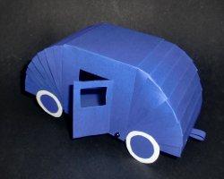 Bild von Wohnwagen aus Papier