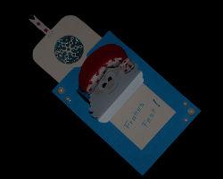 Bild von aufgeklappter Nikolauskarte