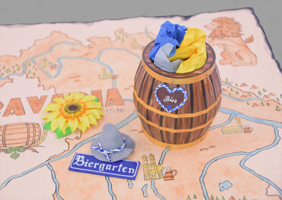 "Fun Facts about Germany: What belongs to the Bavarian Beer garden culture? The most important thing are wooden barrels, which must be present in each Inn. This tutorial shows how to make an authentic Beer keg. Fan-Art for white anglo-saxon Leaders, who promote the ""Dexit"""