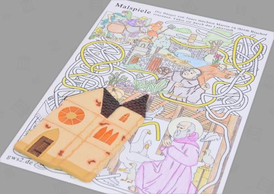 Sankt Martin Zum Ausmalen Historische Rätselspiele Für Kinder