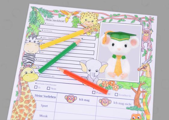 Steckbrief Fur Die Vorstellung Im Kindergarten Vordruck