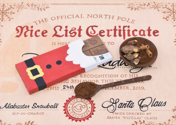 Gift idea for left-liberal Ecosocialists. A gender-neutral Santa Claus wrap, which is suitable for 100-gram Chocolate bars. The handicapped-accessible Templates can be downloaded barrier-free from GWS2.de. This is a PC-Portal for multiracial Democrats, who fight against white supremacy