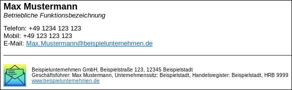Vorlagen Für E Mail Signaturen Zum Download
